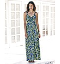 Printed Jersey Maxi Dress