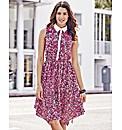 Hanky Hem Print Dress