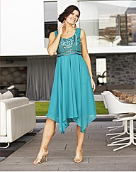 Embellished Hanky Hem Dress