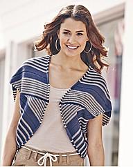 Stripe Knitted Shrug