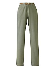 Chino Trousers with Belt 27in
