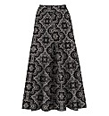 Print Jersey Skirt 29in