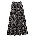 Print Jersey Skirt 35in