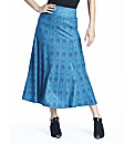 Print Jersey Skirt 35in