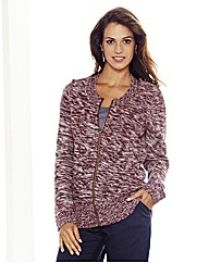 Cardigan With Zip Front
