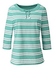 Alice Collins Boat Neck Jersey Top