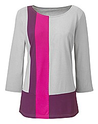 Colour Block Tunic Longer Length