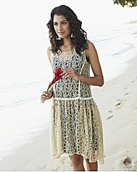 Lace Dipped Hem Dress