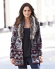 Fur Trim Cardigan