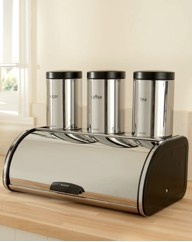 Brabantia Bread Bin and Canister Trio