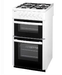 Beko 60cm Gas Double Cavity Cooker
