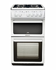 Hotpoint50cm Gas Twin Cavity Cooker