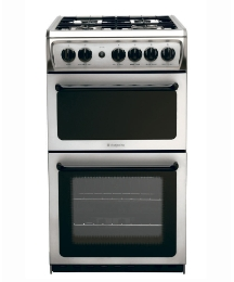 Hotpoint 50cm Gas Twin Cavity