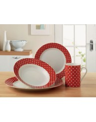 Polka Dot 16 Piece Dinnerware