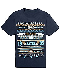 Kayak Mighty Aztec Print T Shirt