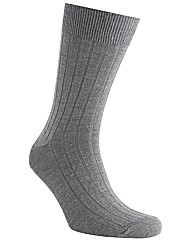 HJ Hall Broad Rib Wool Socks