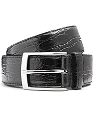 Italian Classics Moc Croc Leather Belt