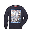D555 Mighty NYC Graphic Print Sweatshirt