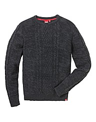 D555 Tall Cable Knit Jumper