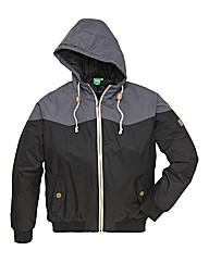 D555 Tall Contrast Trim Hooded Jacket