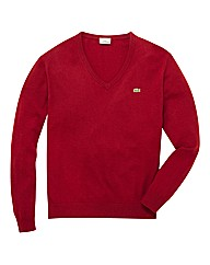 Lacoste Mighty V-Neck Lambswool Jumper