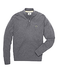 Lacoste Mighty 1/4 Zip Lambswool Jumper