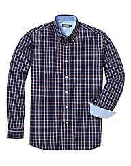 &Brand Tall Grid Check Twill Shirt