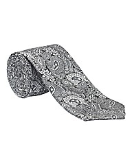 & City Long Length Paisley Tie