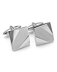 &City Plain Square Silver Cufflinks