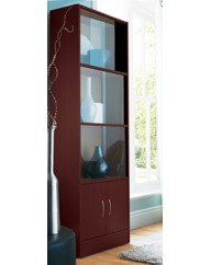 Tall Storage Unit With Glass