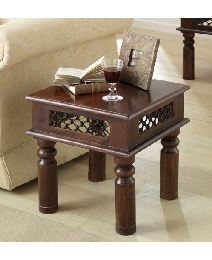 Sheesham Jali Side Table