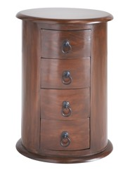 Four Drawer Round Pillar Storage