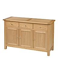 Ashgrove Solid Ash 3 Door Sideboard