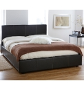 Lyon Faux Lthr Storage Bed with Matt-KS