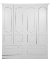 Montana 4 Door 4 Drawer Wardrobe