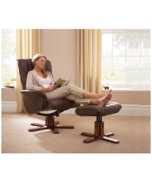 Shangri La Reclining Chair & Footstool