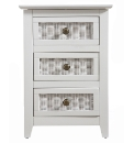 Ceylon 3 Drawer Bedside Chest