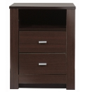 Naples 2 Drawer Bedside Table