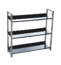 Three Tier Gloss Shelf Unit