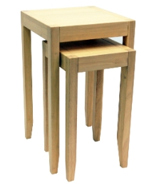Solid Wood Nest of Two Tables