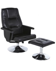 Miami Reclining Swivel Chair & Footstool