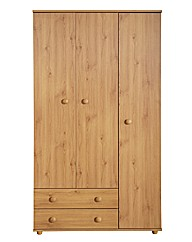 Aspen Three Door Two Drawer Wardrobe