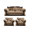 Houston 3 Seater Sofa & 2 Chairs