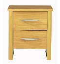 Abbey 2 Drawers Narrow Bedside
