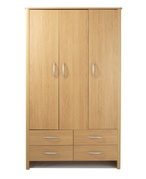 Abbey 3 Door 4 Drawers Wardrobe