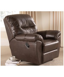 Bonded Leather Faced Recliner Chair