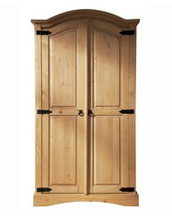 Monterrey Curved Top 2 Door Wardrobe