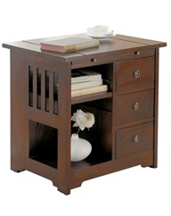 Mahogany Versatile Storage Table