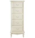 Provencale Narrow 5 Drawer Chest