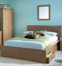 Double Bed Frame With Drawers And Matt